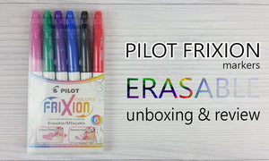 Pilot FRIXION Erasable Markers | Unboxing & Review