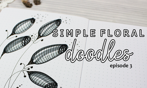 Simple floral doodles how to draw tutorials