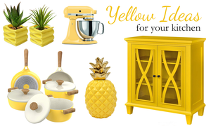 yellow kitchen decor ideas | yellow inspired kitchen accents