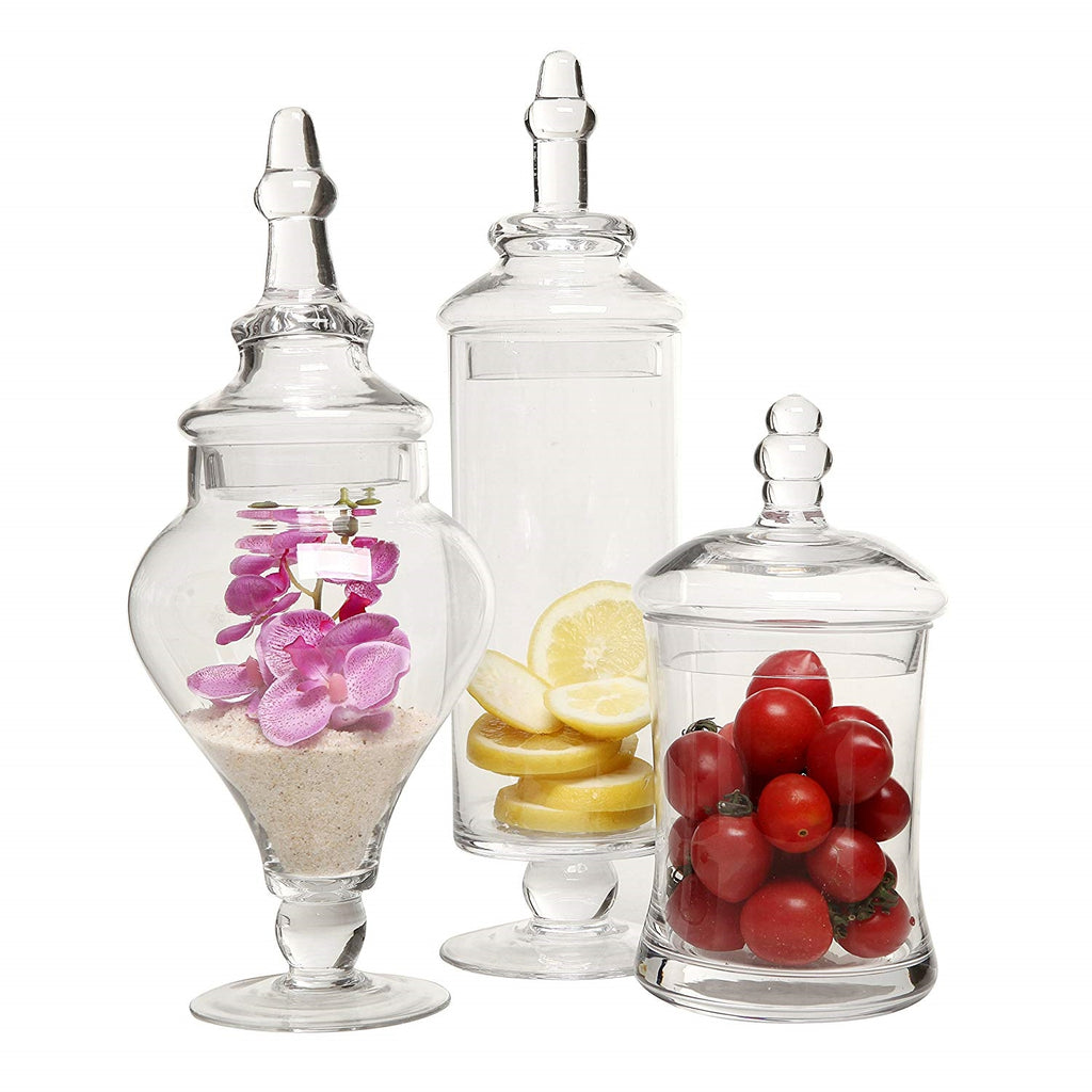 Apothecary jars for filling with Coffee or K-cups or flowers, plants, candies
