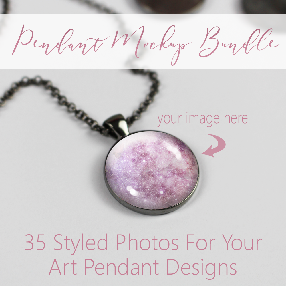 photo pendant mockup bundle