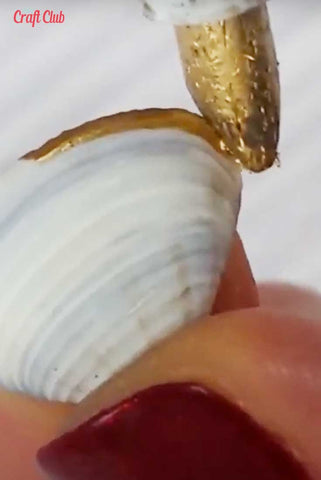 Painting Shells Gold