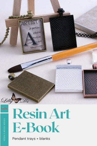 Pendant blanks for resin jewelry