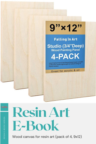 Wood canvas for resin art