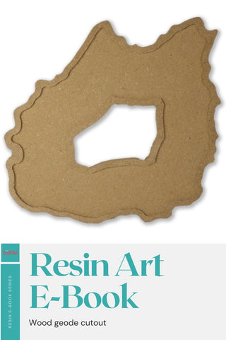 Wood geode cutout for resin