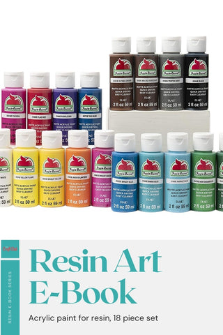 Acrylic paint for resin color