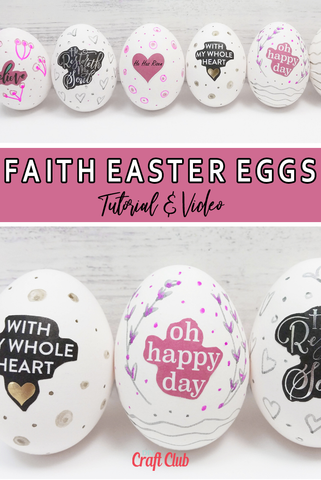 Faith Easter Eggs DIY Tutorial