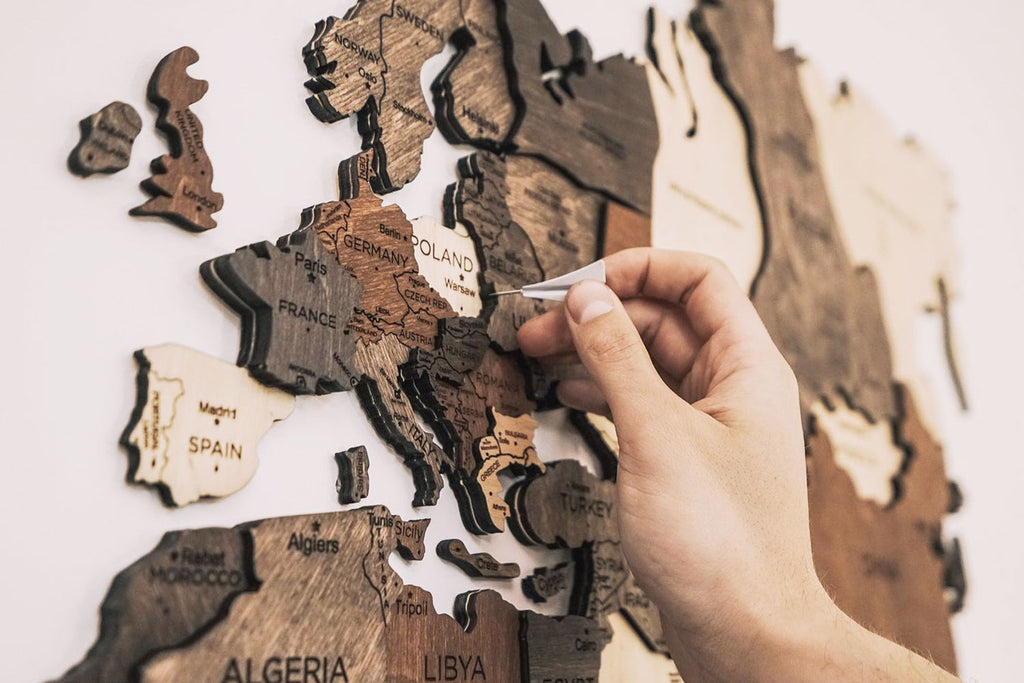 Get her a wooden map for Valentine's Day
