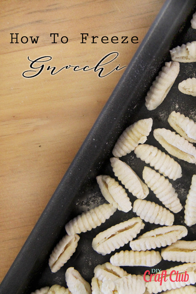 How To Freeze Gnocchi Pinterest Pin