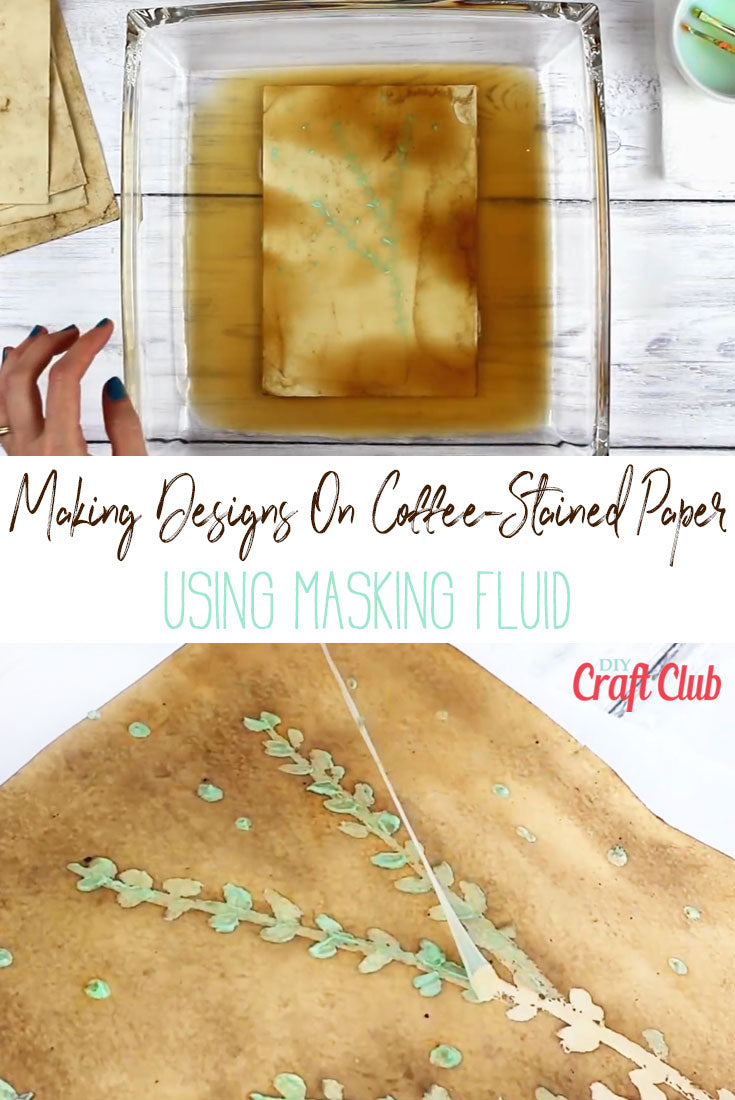 How To Use Masking Fluid On Coffee-Stained Paper