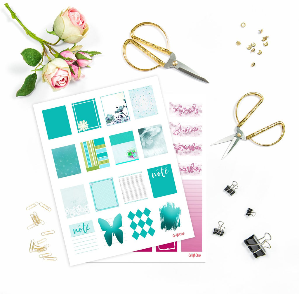 Printable Planner Stickers Pack
