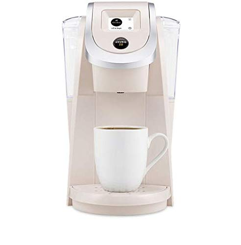 Single serve keurig in neutral sand beige pearl for home office or craft room