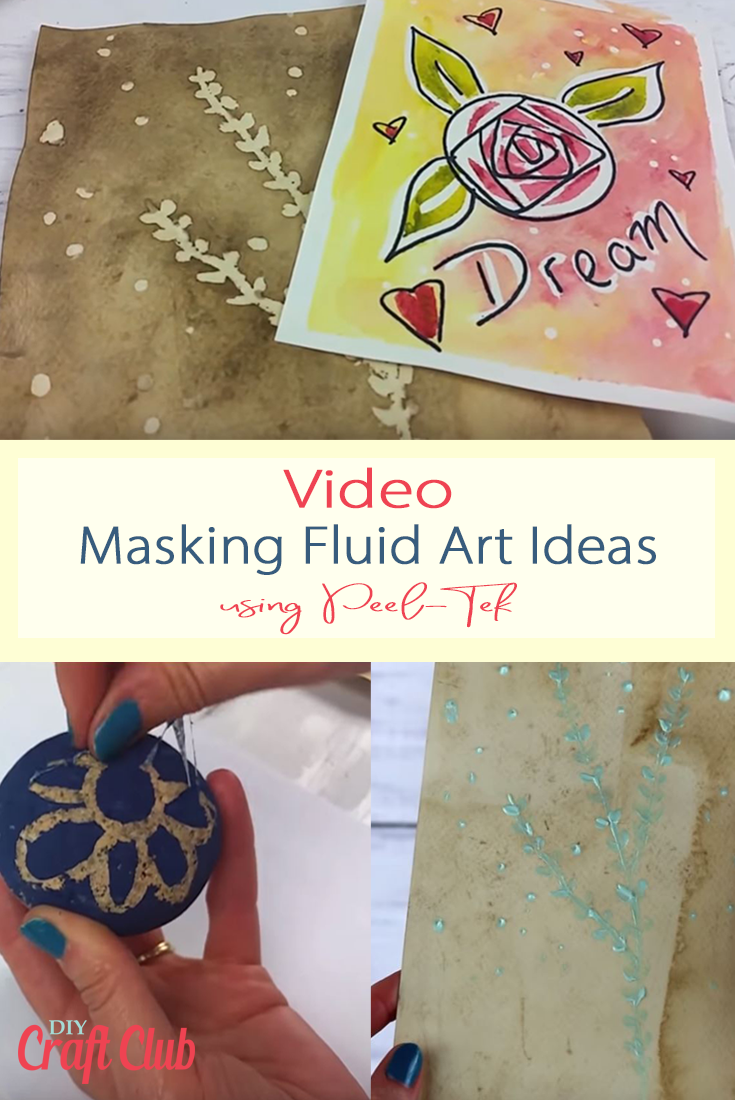 Masking Fluid Art Ideas with Peel-Tek 150