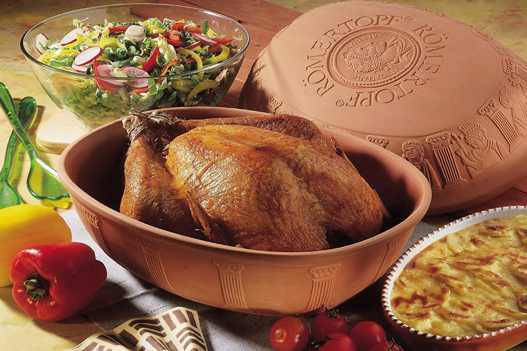 Romertopf clay will cook a turkey perfectly and get a moist, juicy turkey