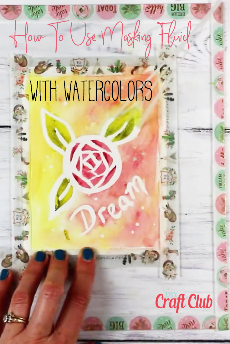 How To Use Masking Fluid With Watercolor Paint