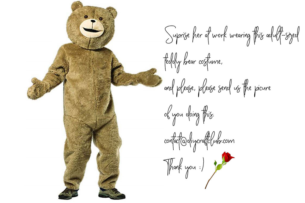 Valentine's Day teddy bear costume gift