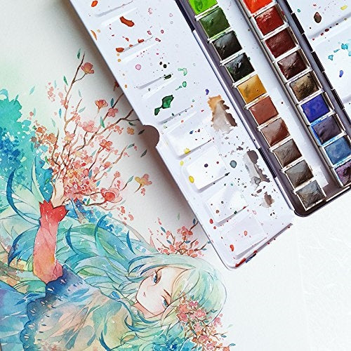 Watercolor set for travel by Paul Ruben