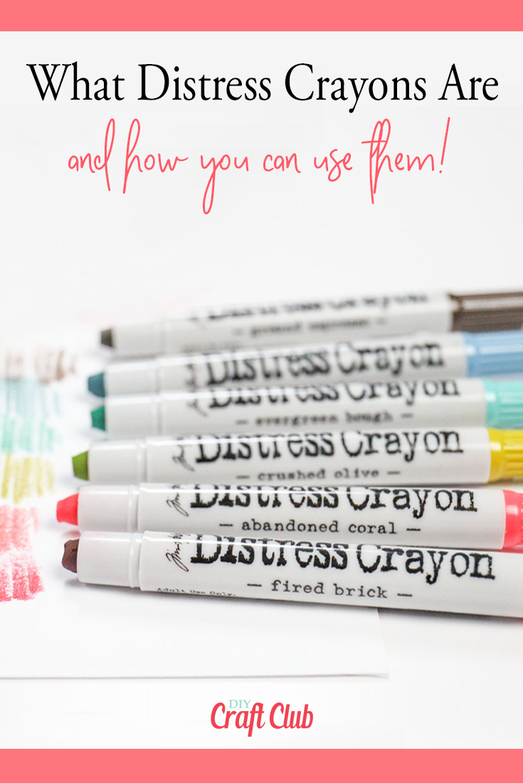 How to use distress crayons