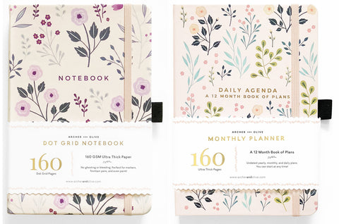 Archer and Olive Monthly Planners
