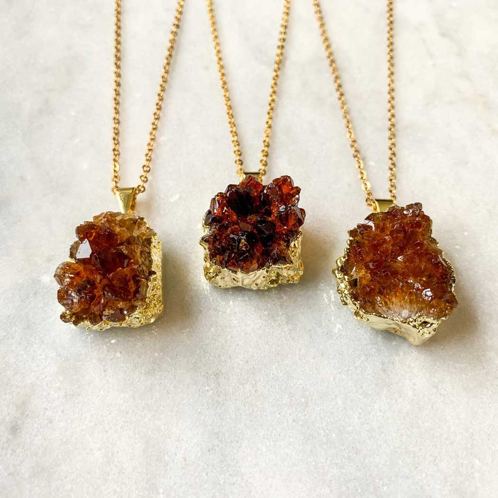 best druzy pendants on etsy