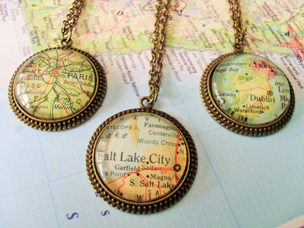 best jewelry shops on etsy custom map pendants