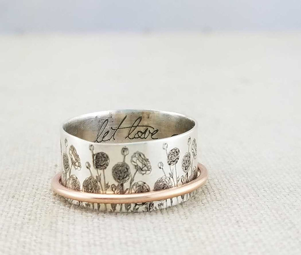 best hand stamped ring jewelry shops on etsy