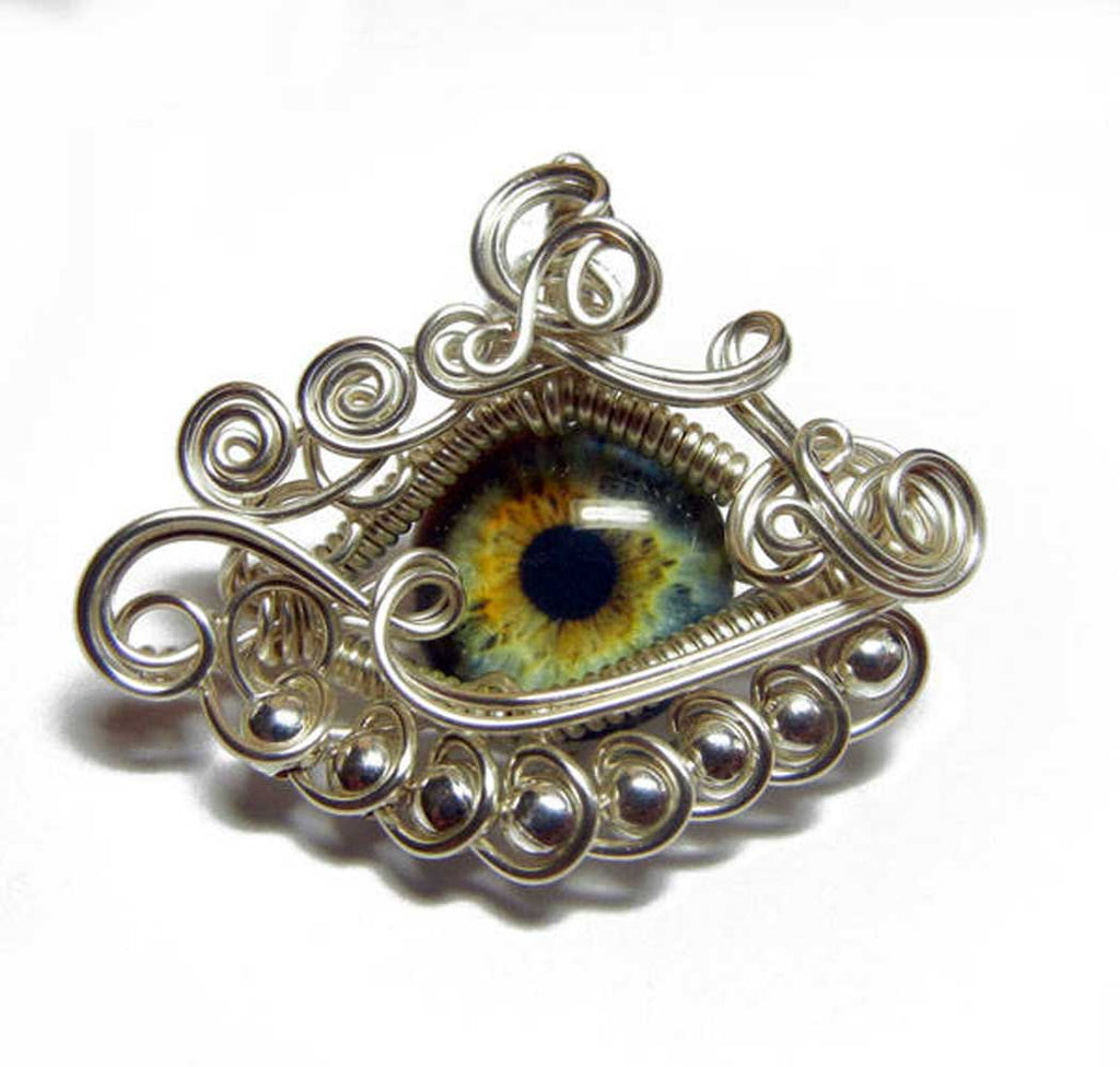 best jewelry sellers on etsy wire wrapped dragon eye