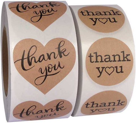 best thank you stickers