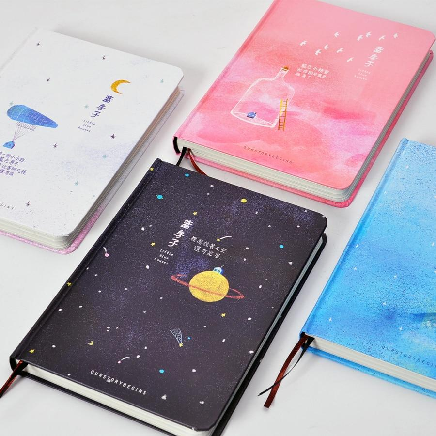 notebook with watercolor paintings inside