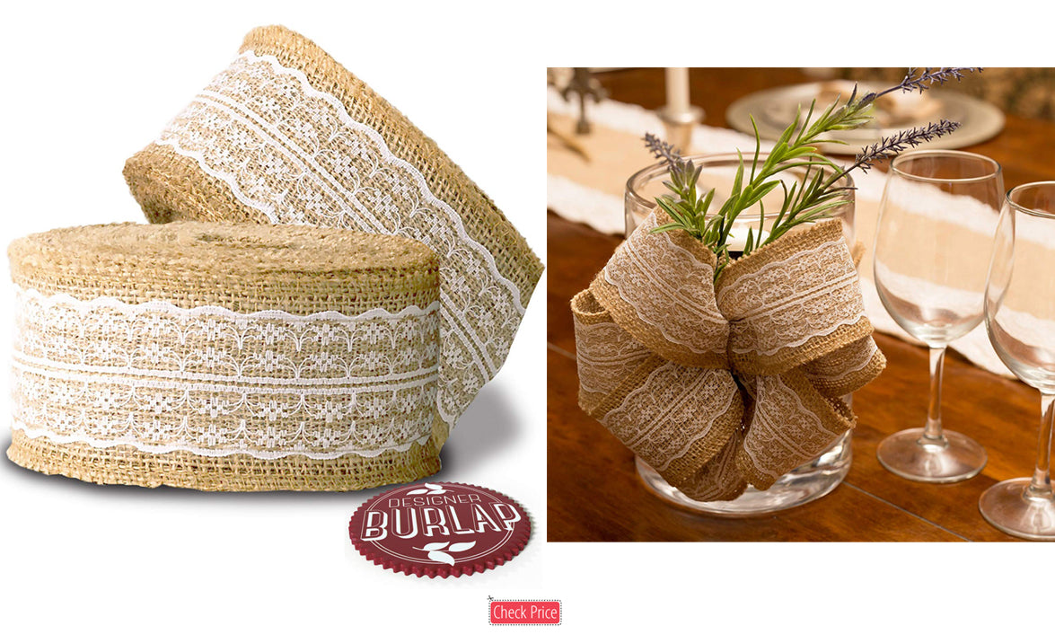 high end burlap ribbon