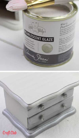 chalk painting tutorial pearlescent glaze