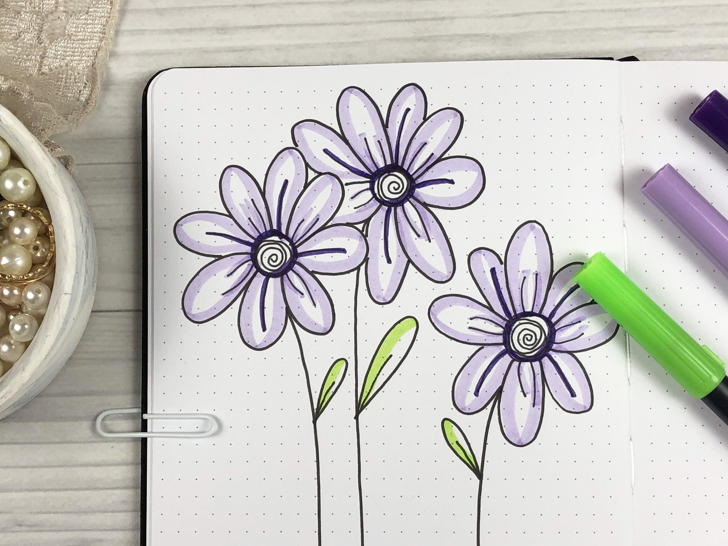 how to draw simple flowers