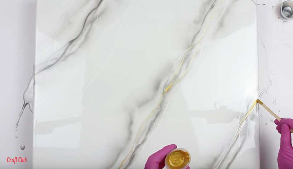 resin diy marble background