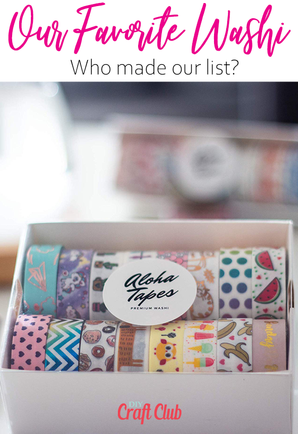 favorite washi tape companies and designs