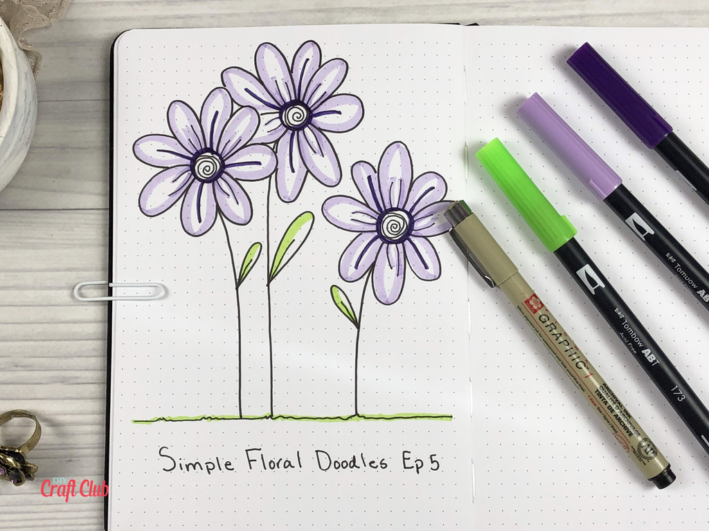 How to draw daisies
