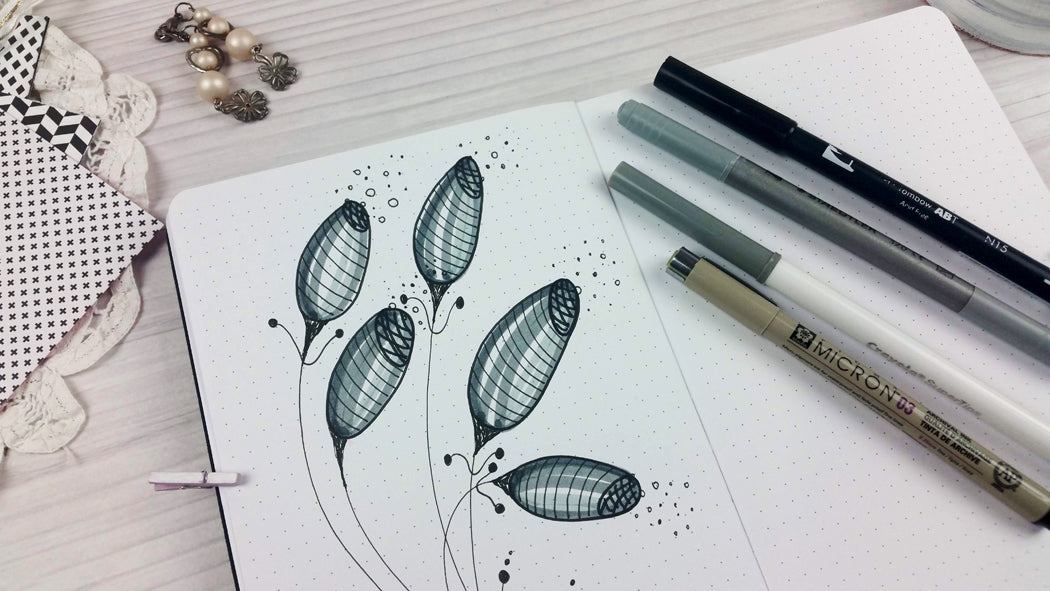 flower ideas for bullet journal spreads
