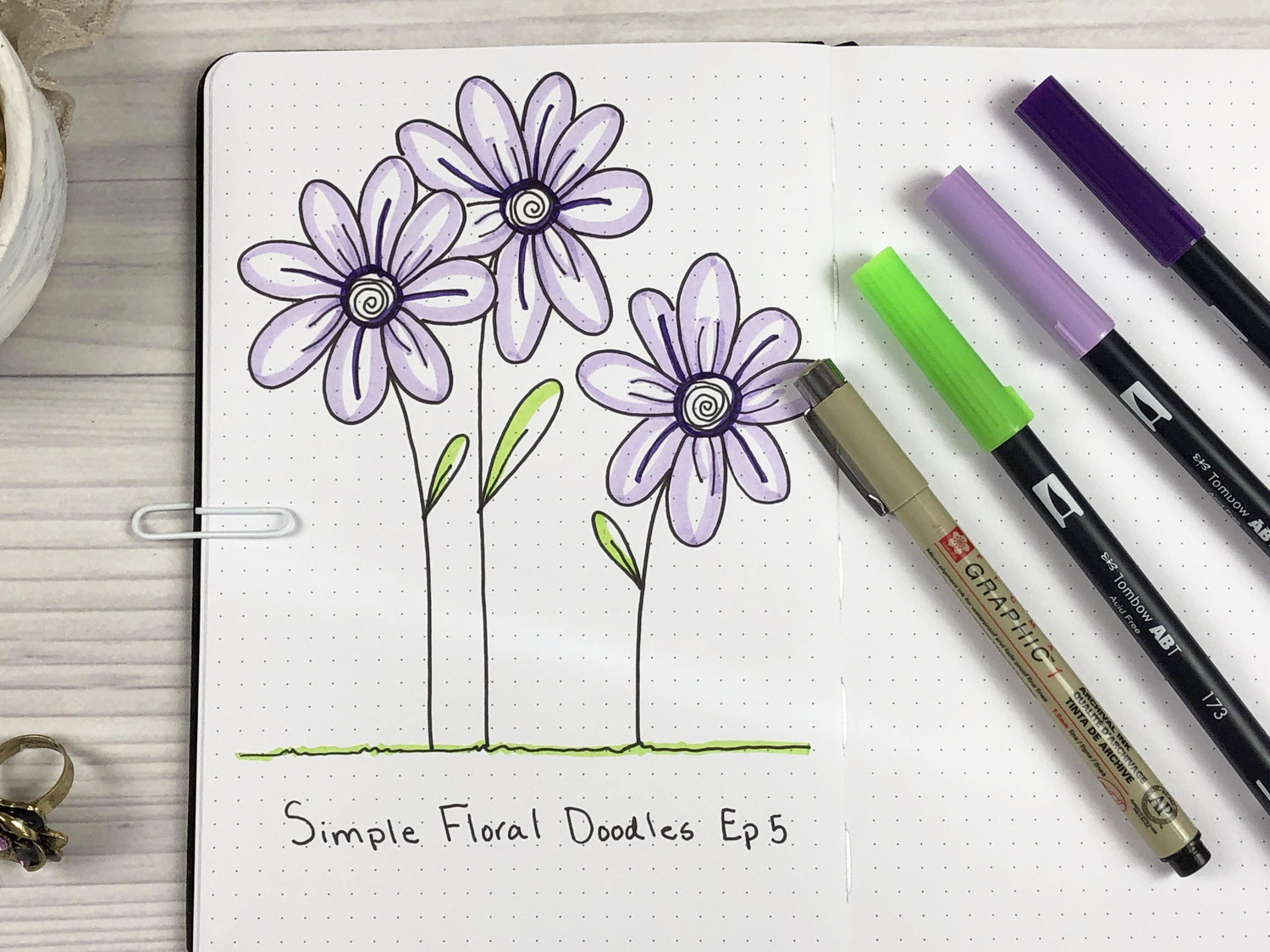 floral doodle ideas for journal