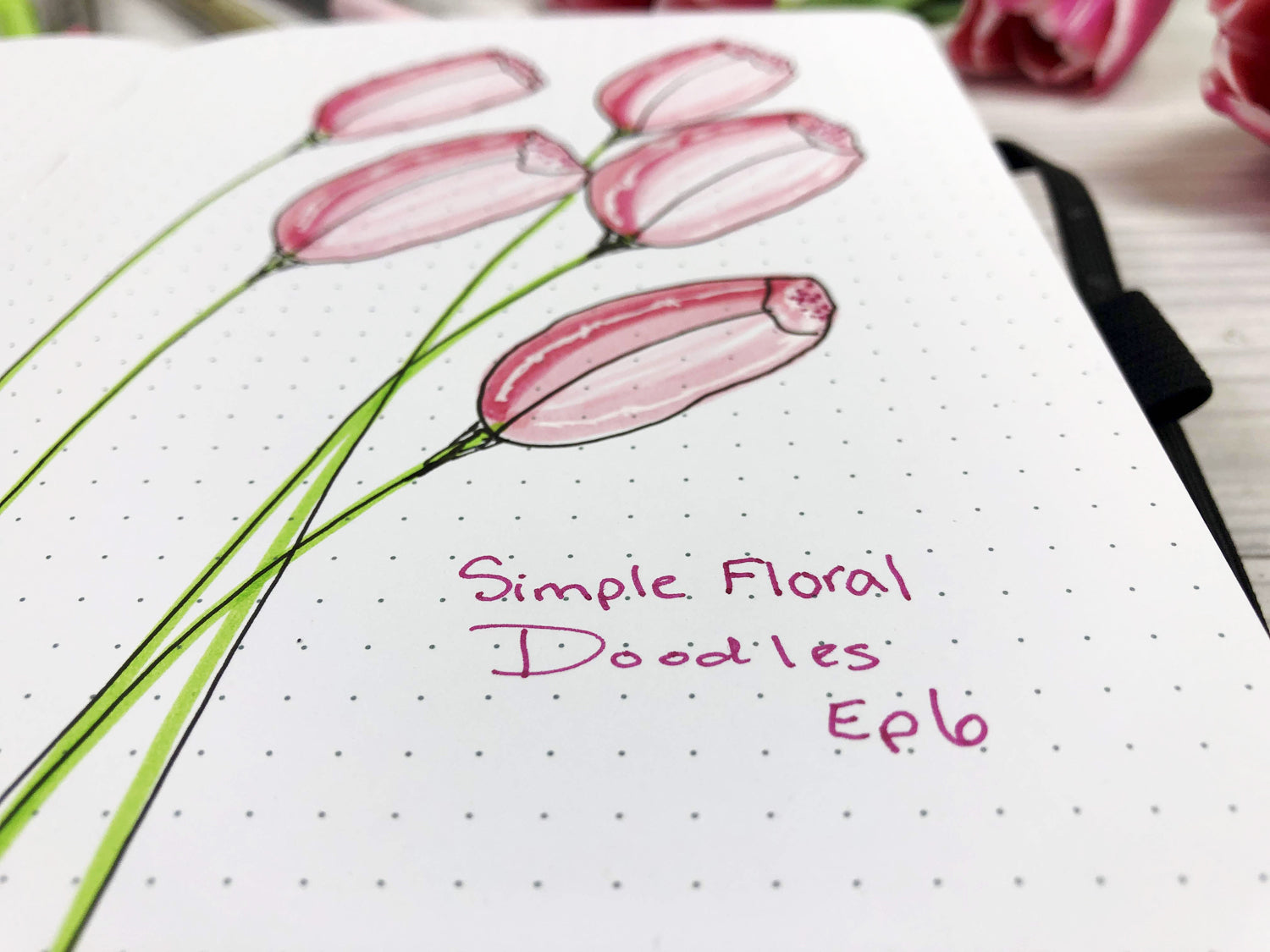 free flower tutorials how to draw tulips