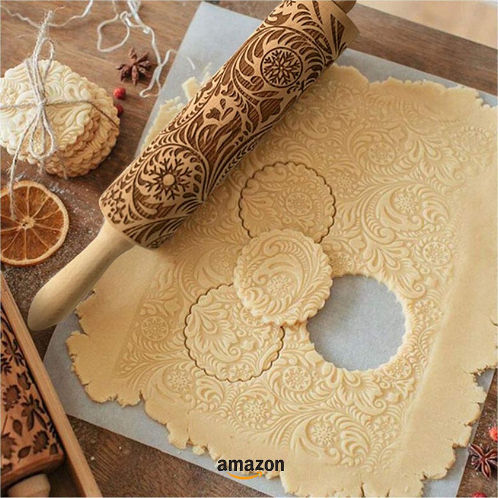 best gifts for bakers embossed rolling pin