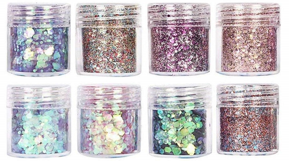 Add glitter to resin