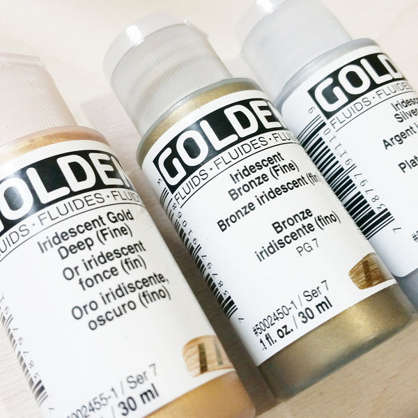 DIY Craft Club - Product review - Golden Fluid Acrylic Paints