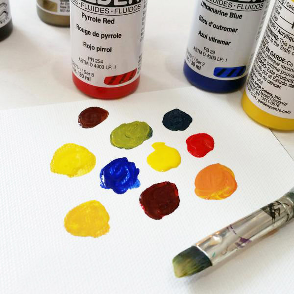 mixing color of golden fluid acrylic paint