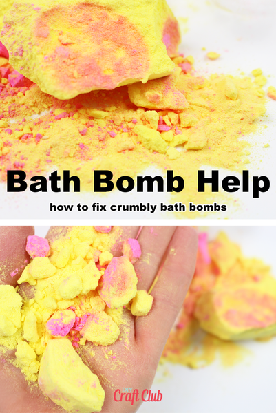 how to fix crumbling bath bombs