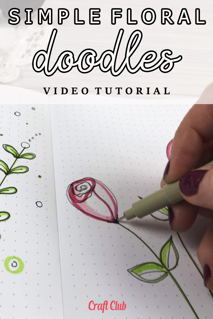 how to draw simple roses