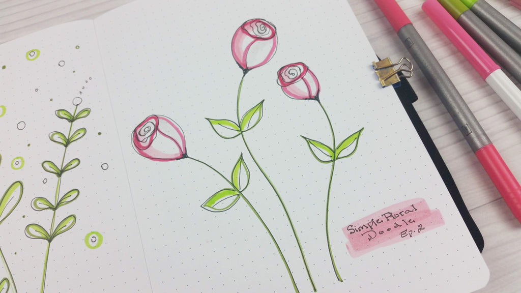 how to draw a simple rose tutorials