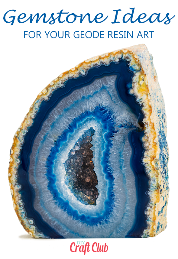 geode resin art ideas gemstones and crystals
