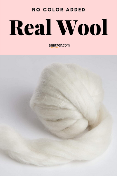 real wool for felting