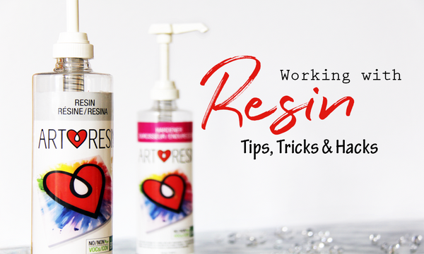 Working with resin: tips, tricks and hacks