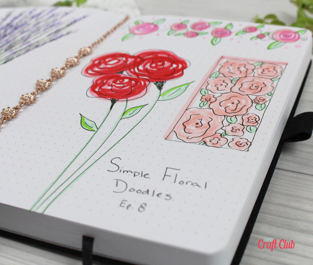 rose doodle ideas for journaling