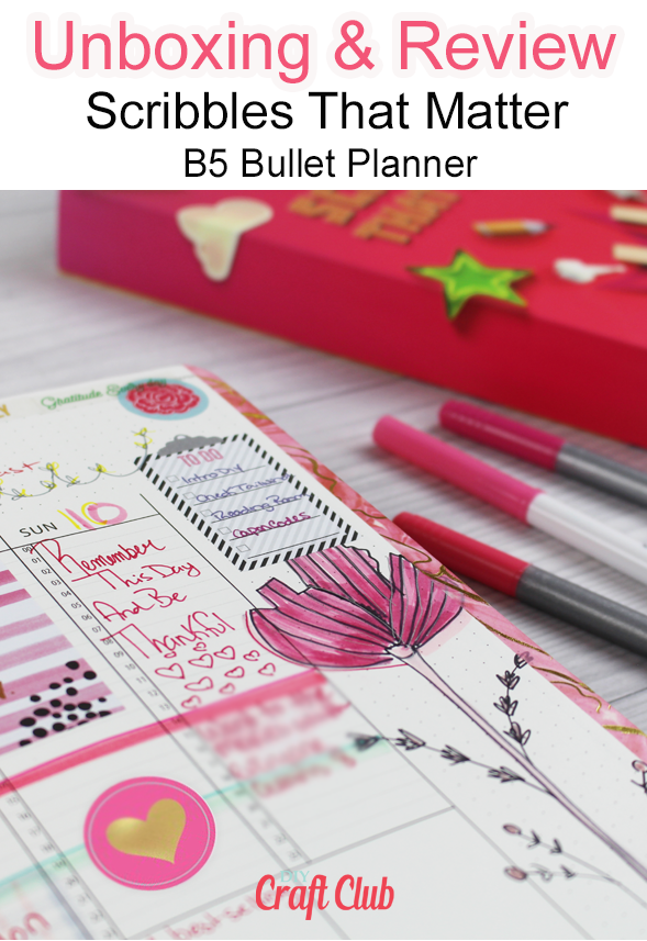 Scribbles That Matter B5 Bullet Planner Review